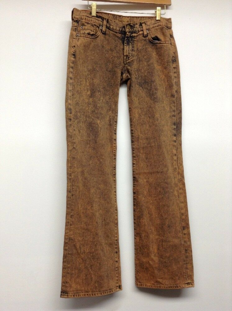 New 7 For All Mankind Women's Bootcut Jeans Bronze Wash Size 28
