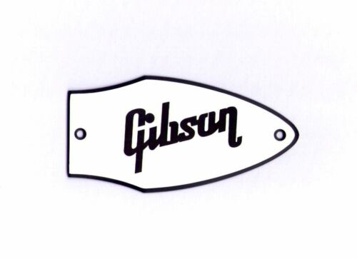 FLYING V BASS TRUSS ROD COVER name plate for Gibson Bass guitar White // Black