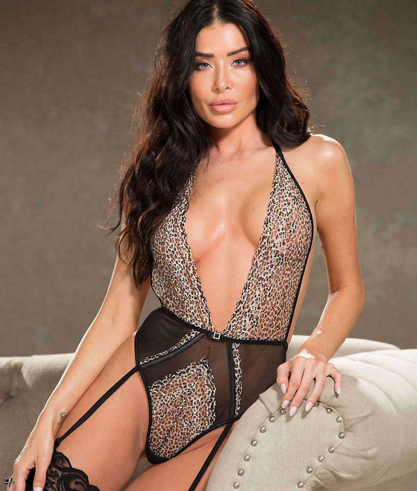 Shirley of Hollywood Purrfect Garter Teddy Lingerie - Women's