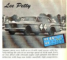 CD_1667 #44 Lee Petty 1960 Plymouth Valiant  1:24 scale decals