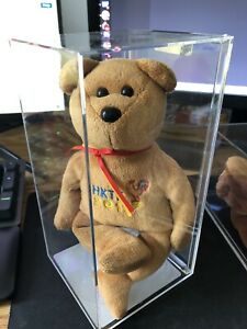 Ty Authenticated 2017 Hong Kong Toy Fair Teddy Beanie Baby Brown ULTRA RARE!
