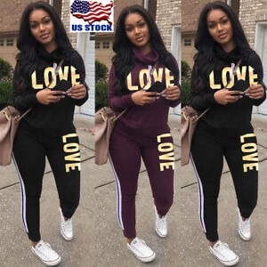 Women-2Pcs-Tracksuit-Hoodies-Sweatshirt-Pants-Sets-Ladies-Sport-Wear-Casual-Suit