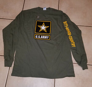 US-Army-Strong-Honor-Duty-Country-Military-Green-Long-Sleeved-Adult-T-Shirt