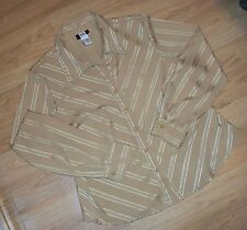 """Woman's Long Sleeve Top/Blouse ""Studio 40"" XLg NICE Rich Gold Striped=Beautiful"