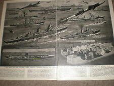 Navy of the Future drastic changes atomic age G H Davis 1956 old prints ref Z