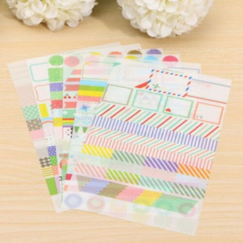6X Transparent Calendar Scrapbook Diary Book Decor Paper Planner Sticker ME