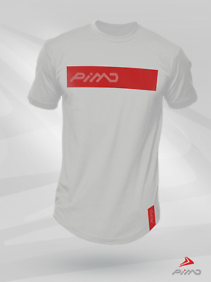 PIMD Lifestyle White Tee Fitness Workout Gym Muscle T-Shirt Bodybuilding S XL