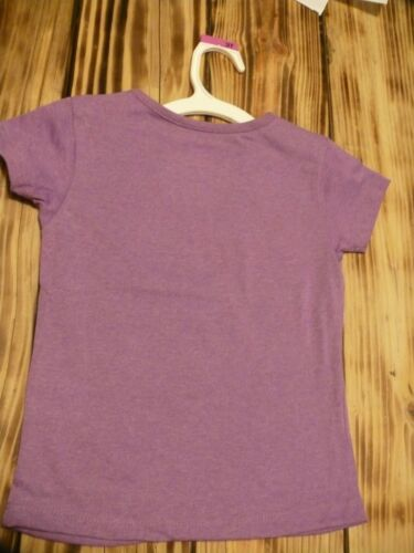 Disney girls top Belle shirt purple 3T Beauty /& Brains short sleeves