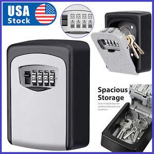 4 Digit Combination Key Lock Box Wall Mount Safe Security Storage Case Organizer