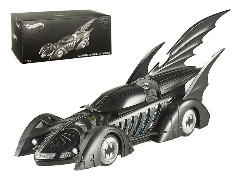 1/18 Hot Wheels 1995 Batman Forever Batmobile Diecast Model Elite Edition BCJ98