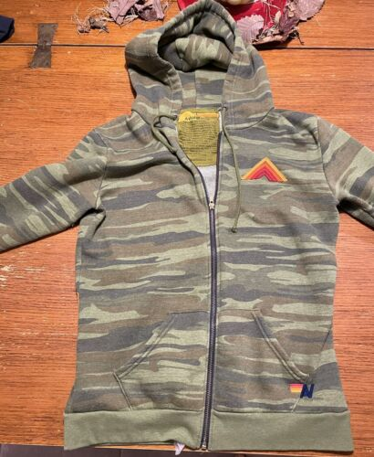 Aviator Nation Sweatshirt Hoodie Zip-up Camo - Che