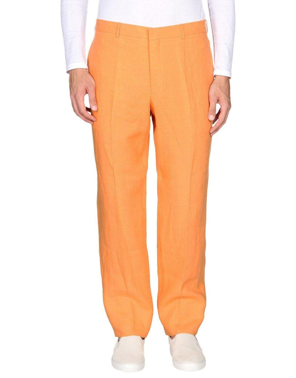 Polo Ralph Lauren 100% Linen orange Casual Trousers(Open Hem) - W31 L36