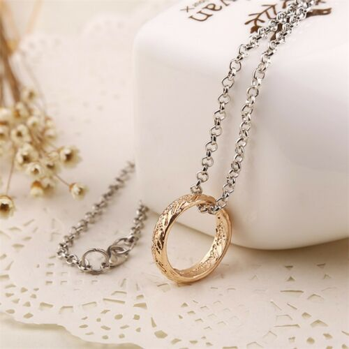 Vintage Style Gold Ring Chain Necklace Ring Pendant Movie Inspired Gift UK