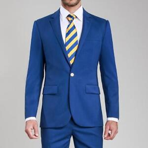 Hot Sale Groom Tuxedos Custom Made Man Suit Royal Blue Wedding Suits Tailor Suit Ebay