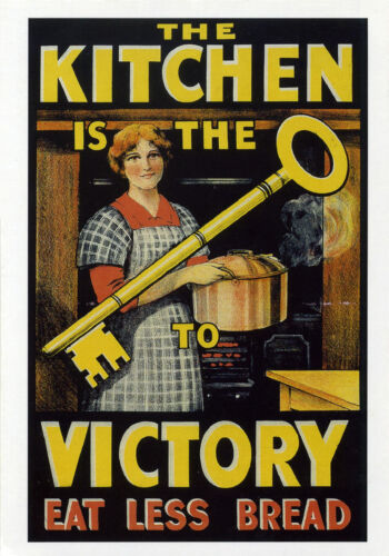 """/""""THE KITCHEN IS THE KEY TO VICTORY/"""" WW2 Propaganda Poster A1A2A3A4Sizes"""