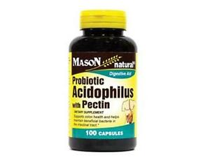 100 Capsules Acidophilus With Pectin Probiotics