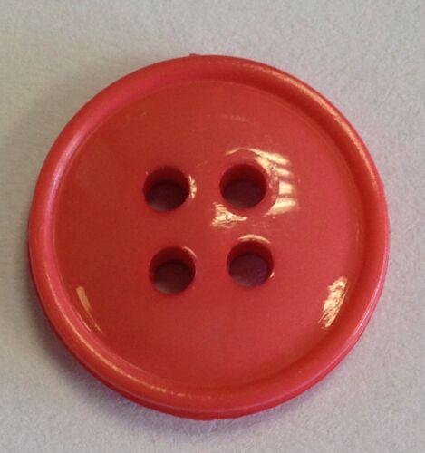 Couleur Brillant 15 mm Boutons Pack De 20 Choix de Couleurs