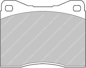 Details about FERODO RACING DS2500 FRONT or REAR BRAKE PADS FERRARI FCP451H  SEE OUTLINE