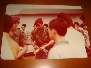 Singapore-1983-Color-Photograph-View-of-SAF-Commandos-Nice-Used