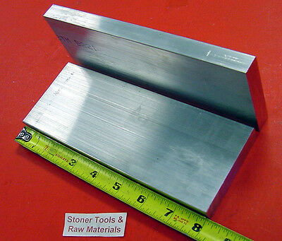 """4 Pieces 5//8/"""" X 2/"""" ALUMINUM 6061 FLAT BAR 8/"""" long T6511 Solid Plate Mill Stock"""