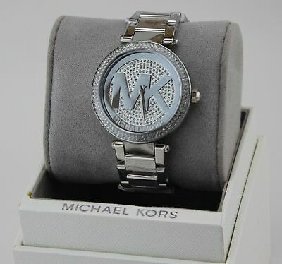 NEW AUTHENTIC MICHAEL KORS PARKER SILVER CRYSTALS WOMEN'S MK5925 WATCH 796483082472 | eBay