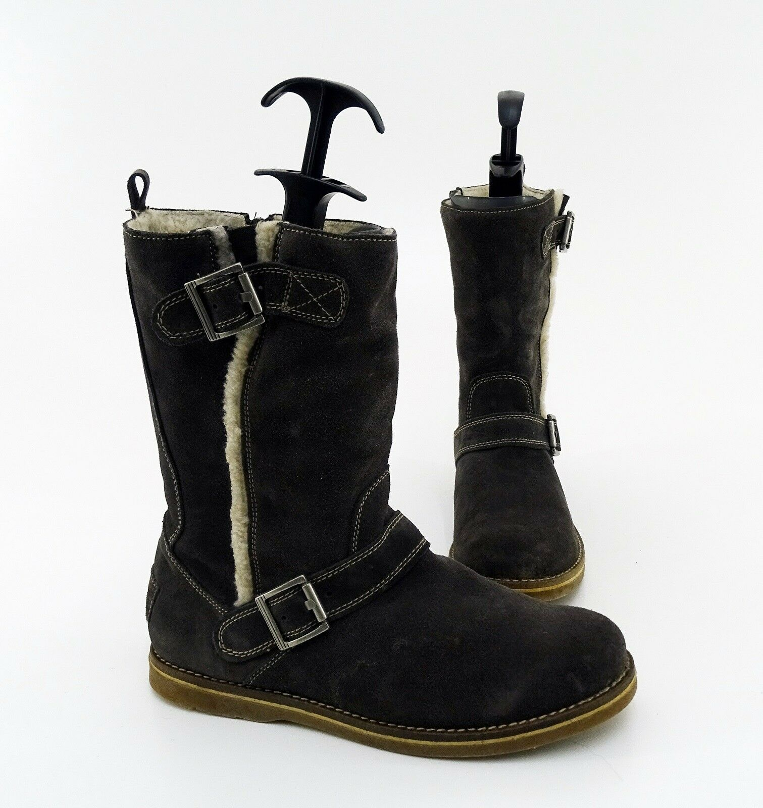 Stiefel Tamaris Winter Reißverschluss Echtleder brown Gr. 41