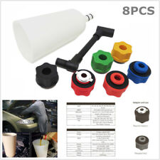 8pc Car Engine Oil Funnel Kit Filling Cooling System Repair Filler 6 Adapterbox Fits 1997 Toyota Corolla