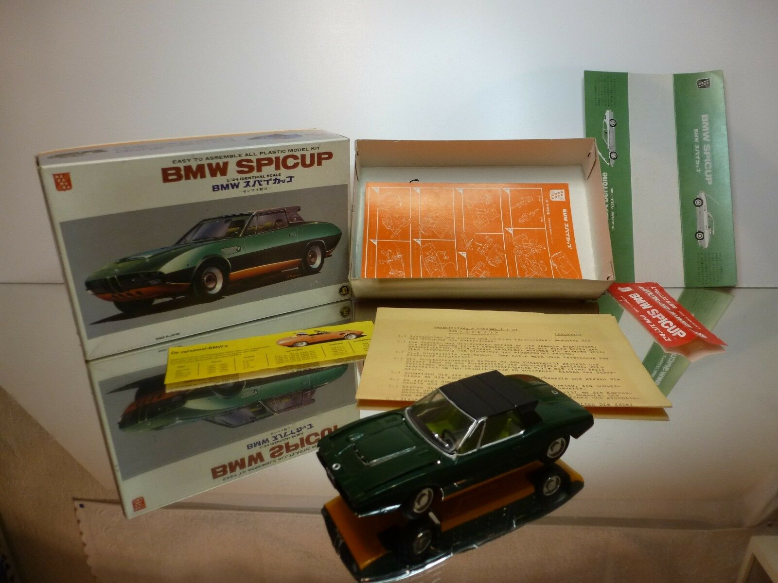 NAKAMURA KIT built BMW SPICUP - verde 1 24 - FAIR CONDITION IN BOX - WINDUP