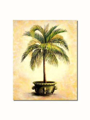 Christmas Palm in Embossed Pot #2 Wall Picture 8x10 Art Print