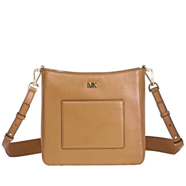 40605fe789c5 Michael Kors Gloria Soft Leather Crossbody Purse- Acorn for sale ...