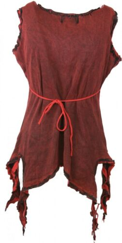 gothic witchy pagan Blouse Top Shirt Tip Embroidered Blue Red Green 38 40 42 44