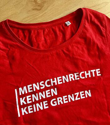 Blogger ++ Menschenrechte/flüchtlinge Bio Gr M Ehrlichkeit ++ Rar T-shirt Pro Asyl