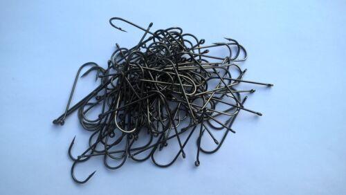 Sea Hooks 100  x Aberdeen Sea Fishing Hooks 1//0 Black  Aberdeen Hooks