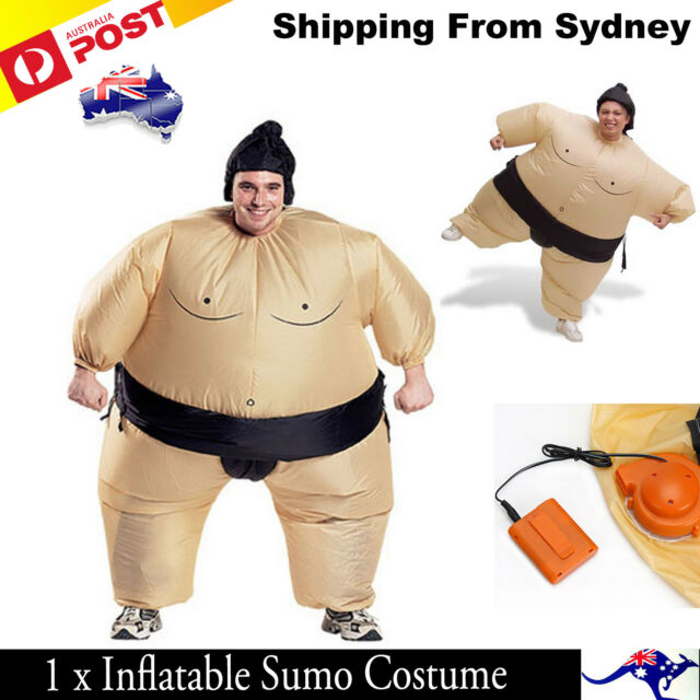 Unisex Inflatable Wrestler Sumo Suits Adult Costume Fancy Dress Blow Up Party AU