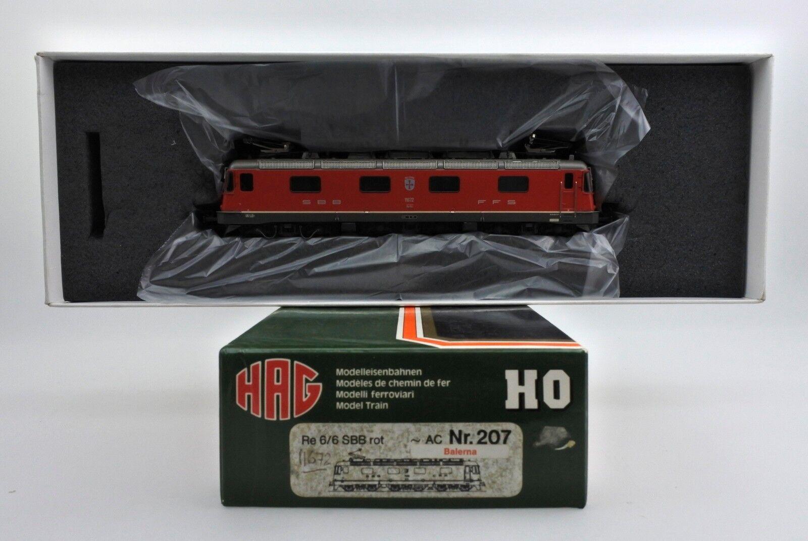 Hag ho scale 207 sbb cff rojo 6   6 motor eléctrico vía AC - 3