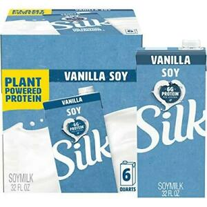 Silk Unsweetened Organic Soymilk, 32-Ounce Aseptic Cartons (Pack of 6)