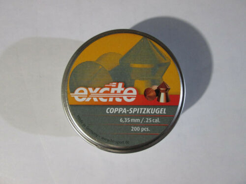 H/&N Excite 6.35 .25 Coppa-Spitzkugel  pellets Box of 200