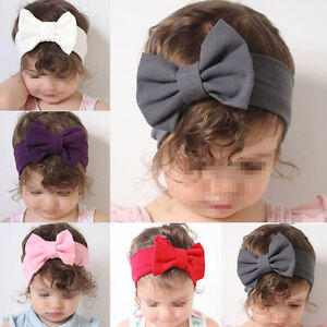 Soft-Baby-Girls-Kids-Toddler-Bow-Hairband-Headband-Turban-Knot-Head-Wrap-Xmas