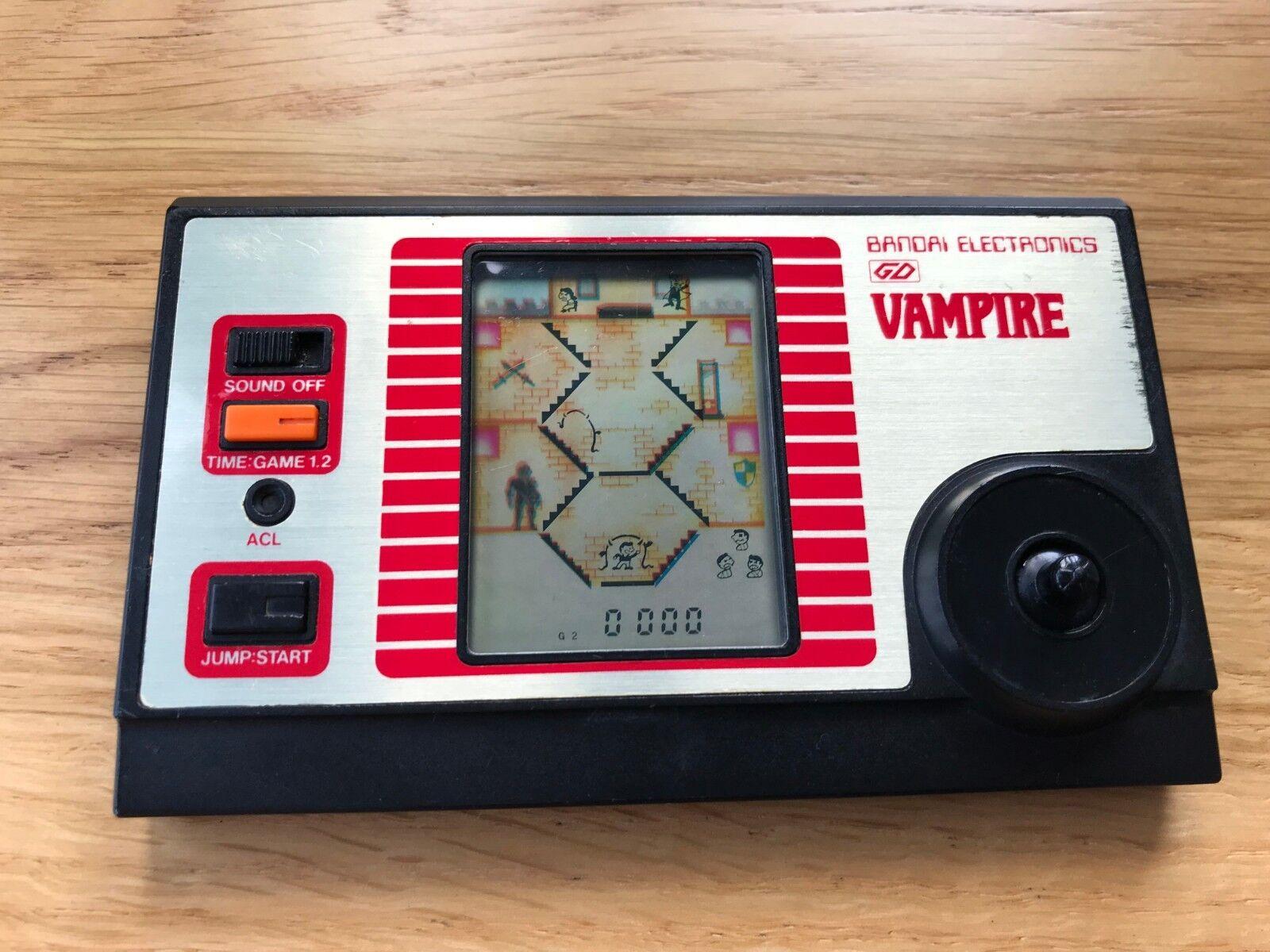 Super Rare Bandai Vampire 1982 Vintage LCD Handheld Electronic Game - Dark LCD