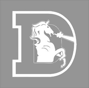 Denver broncos 6 nfl team logo 1 color vinyl decal for Vinyl windows denver