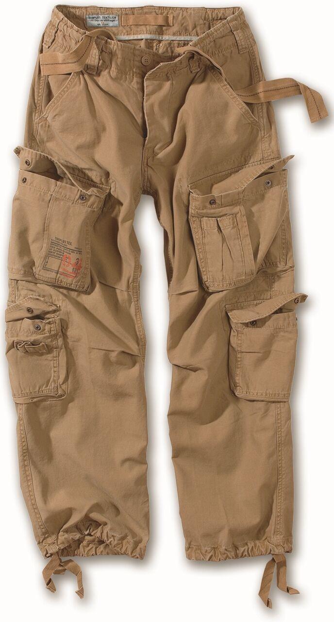 Surplus Aereo Combat Pantaloni Da Da Da Uomo Army Vintage Cargo Work Wear Pantaloni Sabbia 6daad5