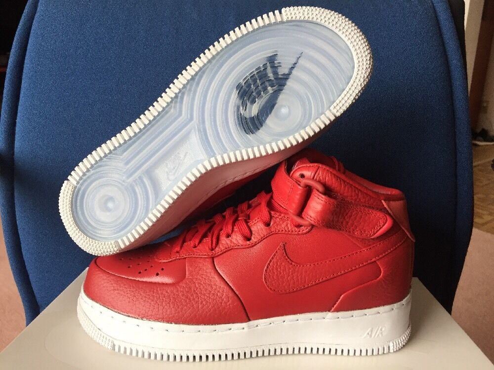 NikeLab Air Force 1 Mid Men's Sz 5 Gym Red October Yeezy Nike Shoes 819677-600