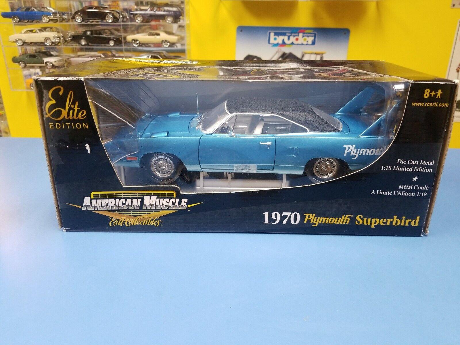 American Muscle 1970 Plymouth Superbird Edizione Elite Blu W  Bianco Sedili
