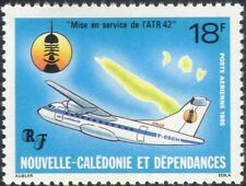 New Caledonia 1986 ATR-42/Planes/Aircraft/Map/Aviation/Transport 1v (n45366)