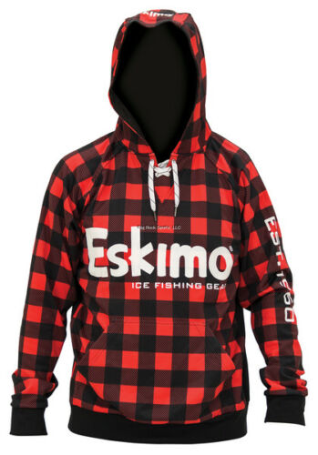 NEW ESKIMO Ice Fishing Performance Hoodie Plaid Red//Blk Lace 3Xl 300470105411