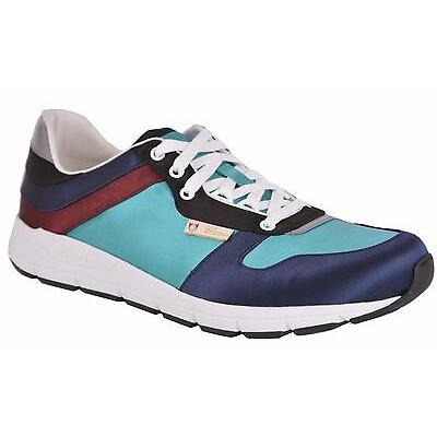 NEW Gucci Men's 336613 Satin Colorblock Low Top Sneaker Tennis Shoes