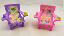 Fisher Price Poseable Little People Outdoor Camping Chairs Fits Loving Family