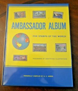 CatalinaStamps-Ambassador-Album-1966-H-E-Harris-w-2600-Stamps-Lot-D29