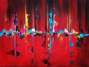 Tableau-abstrait-contemporain-30-x-40-cm-Original-signe-A-G
