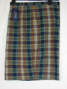 RALPH-LAUREN-jupe-crayon-carreaux-tartan-longueur-genou-Bnwt-Taille-8-28-in-environ-71-12-cm-Taille